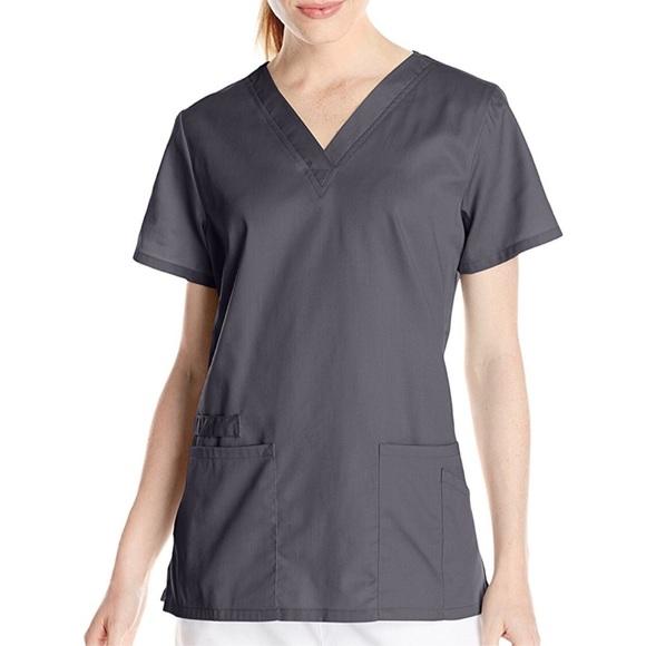 12358ab6370 Cherokee Tops | Womens Workwear Flex Gray Scrub Top Xxs | Poshmark